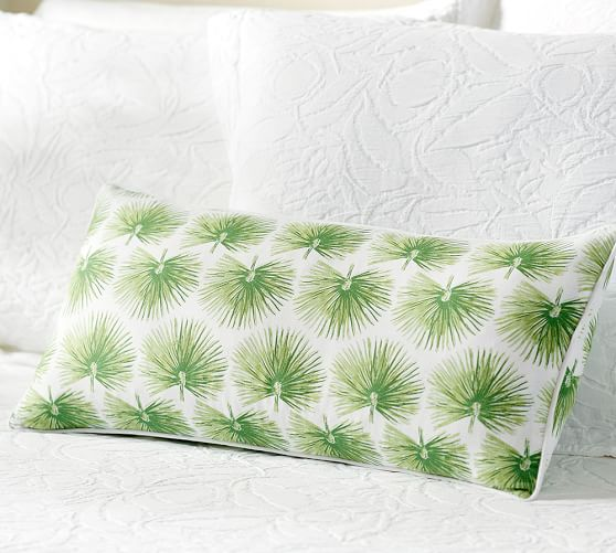 Pottery barn Palm Print Pillow Cover
