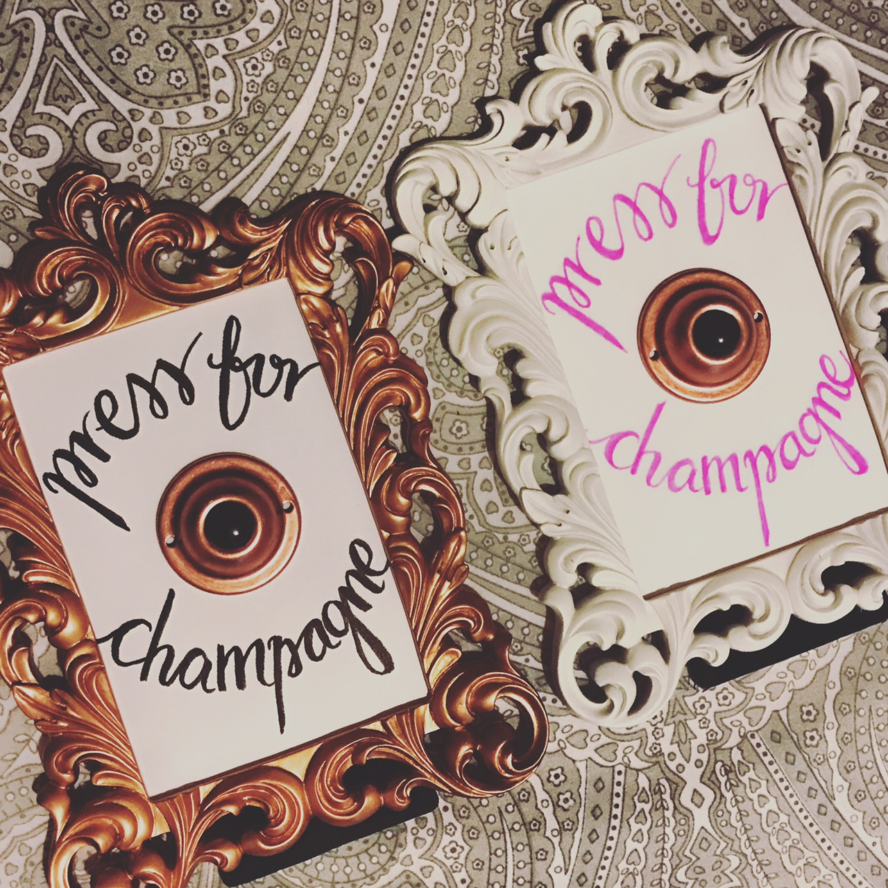 DIY your own 'Press for Champagne' sign with this simple tutorial