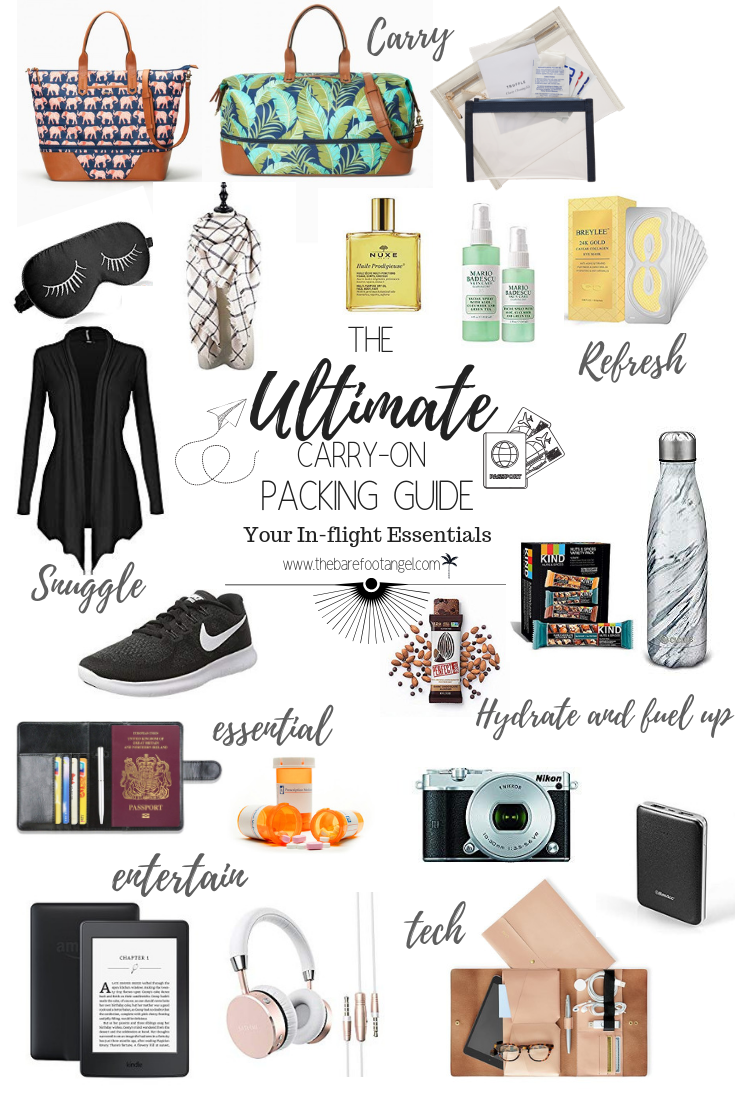 Ultimate Carry-on Packing Guide. Don't leave home without your in-flight essentials!