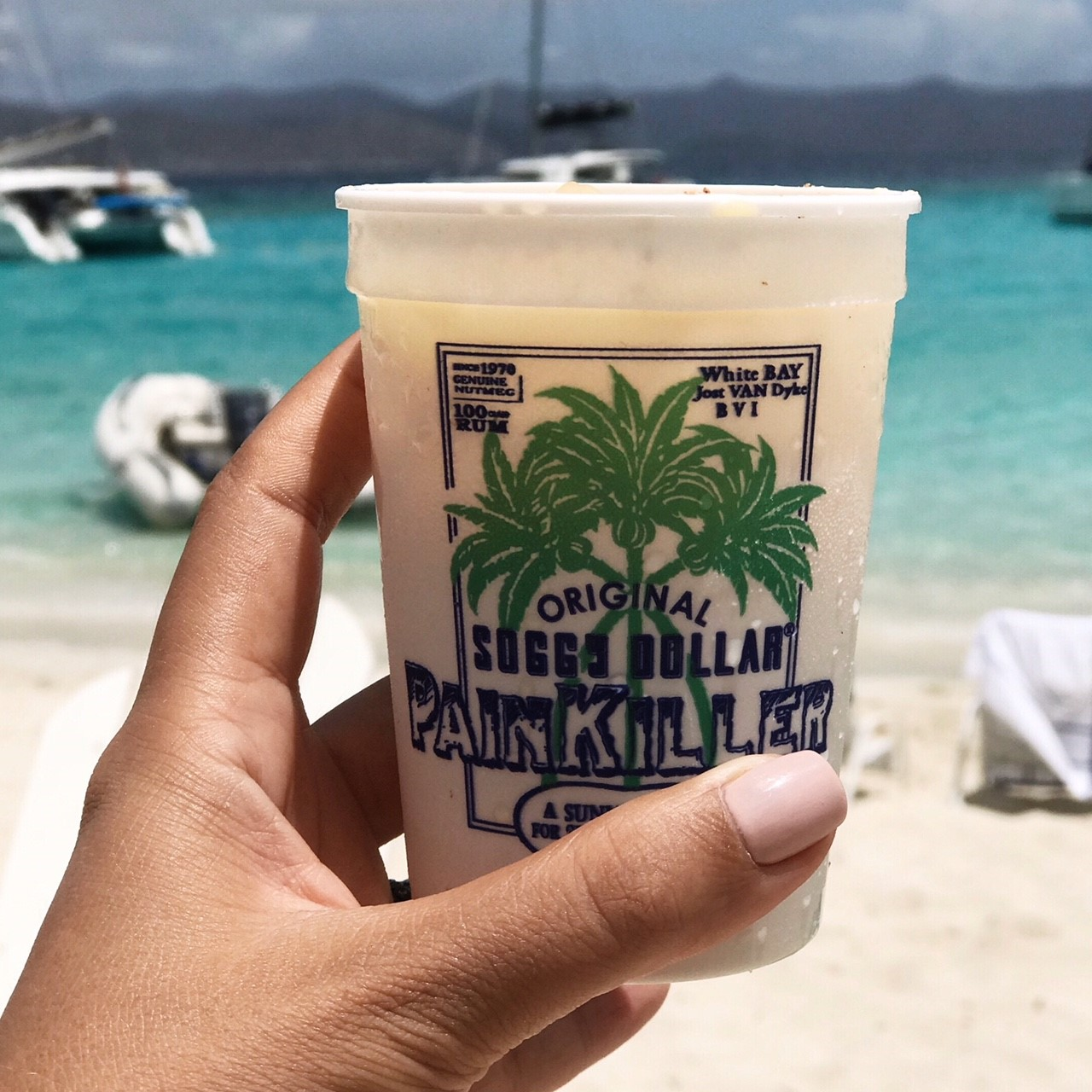 What to do in the BVI - top activities that should not be missed! Soggy Dollar JVD for a Painkiller