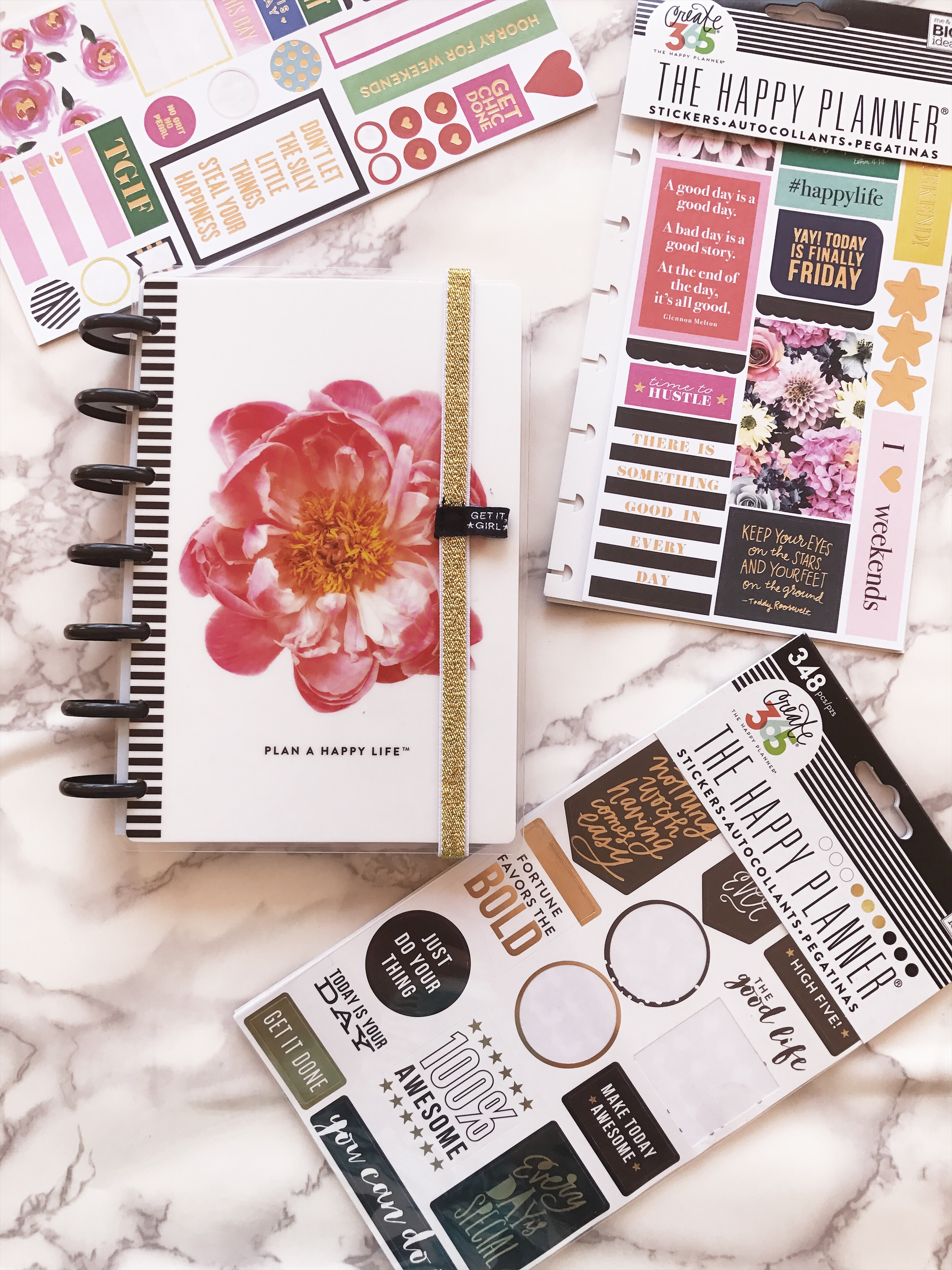 Staying organized and my planner set-up using the MAMBI Happy Planner