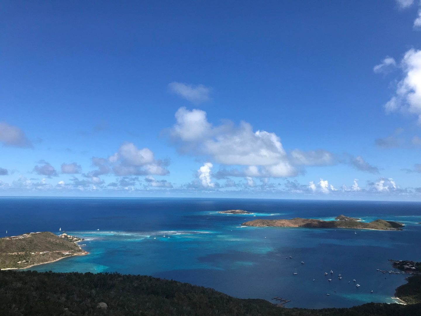 Guide to the best BVI restaurants - the view from Hog Heaven, Virgin Gorda