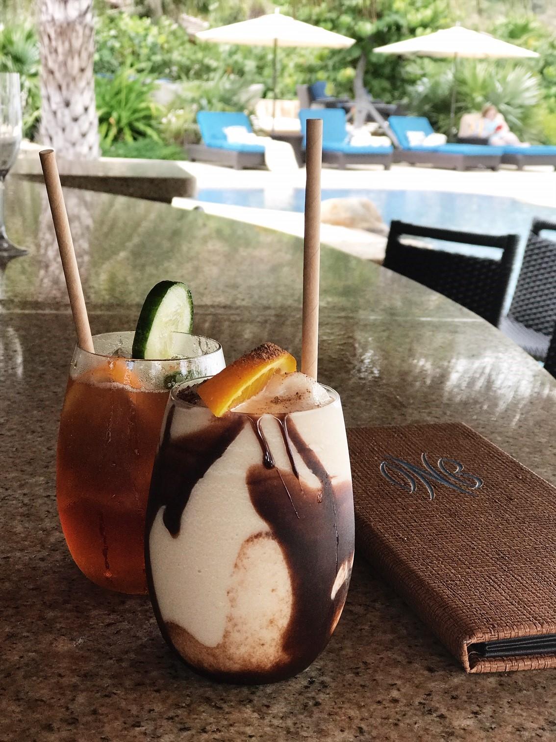 BVI Restaurant Guide - Creamy Bushwhacker cocktail at Oil Nut Bay, Virgin Gorda
