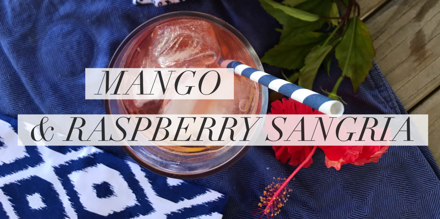Mango and Raspberry Sangria