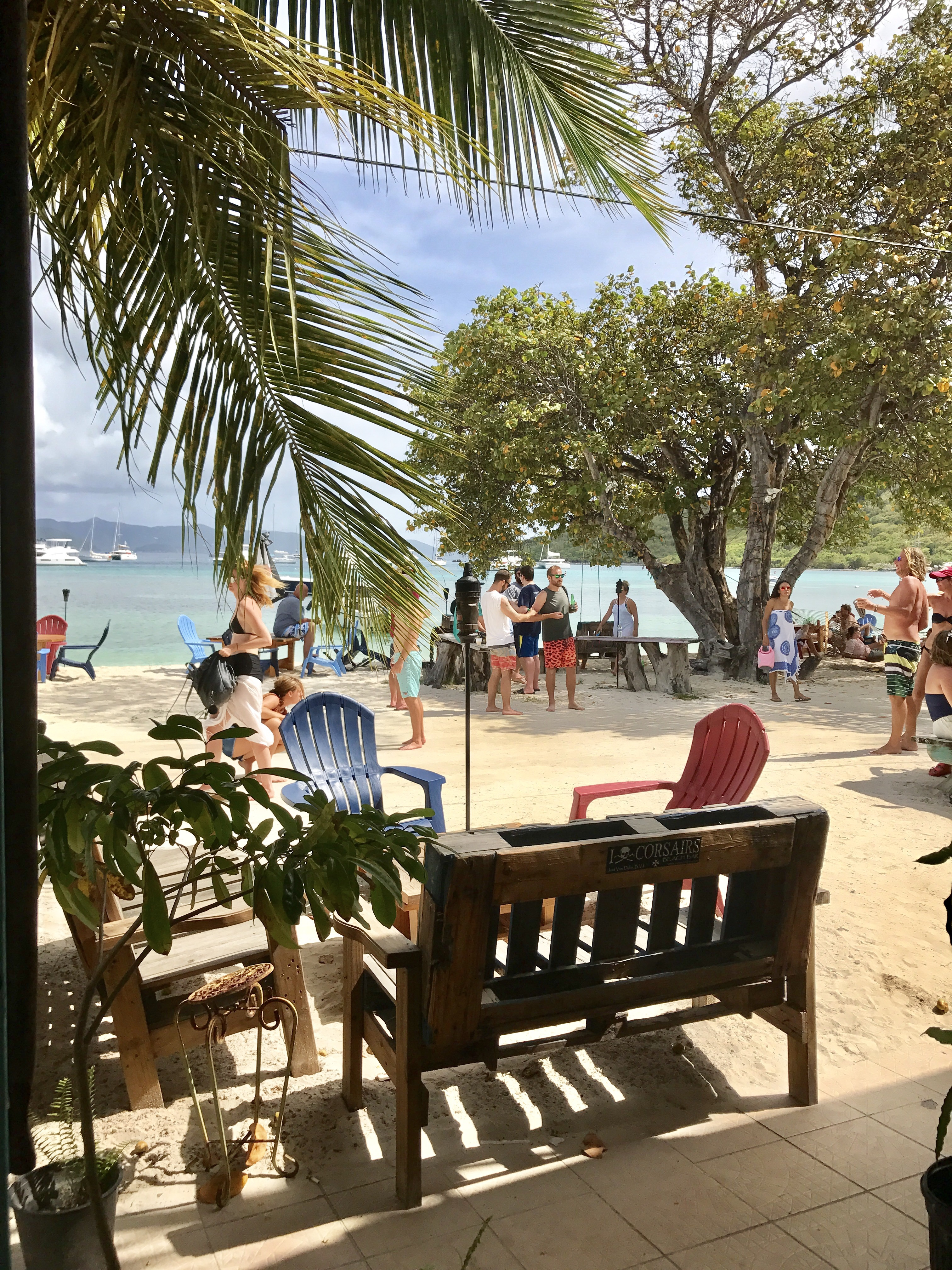 Lunches at Corsairs Restaurant on Jost Van Dyke, British Virgin Islands