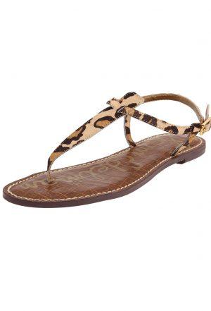 Leopard Thong Sandals