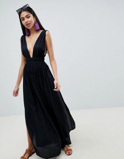 Grecian Plunge Beach Dress