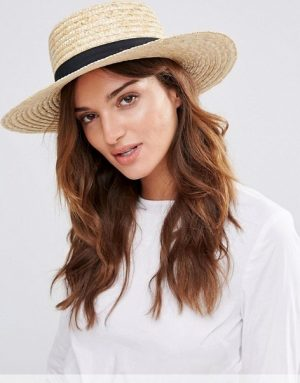 Natural Straw Boater