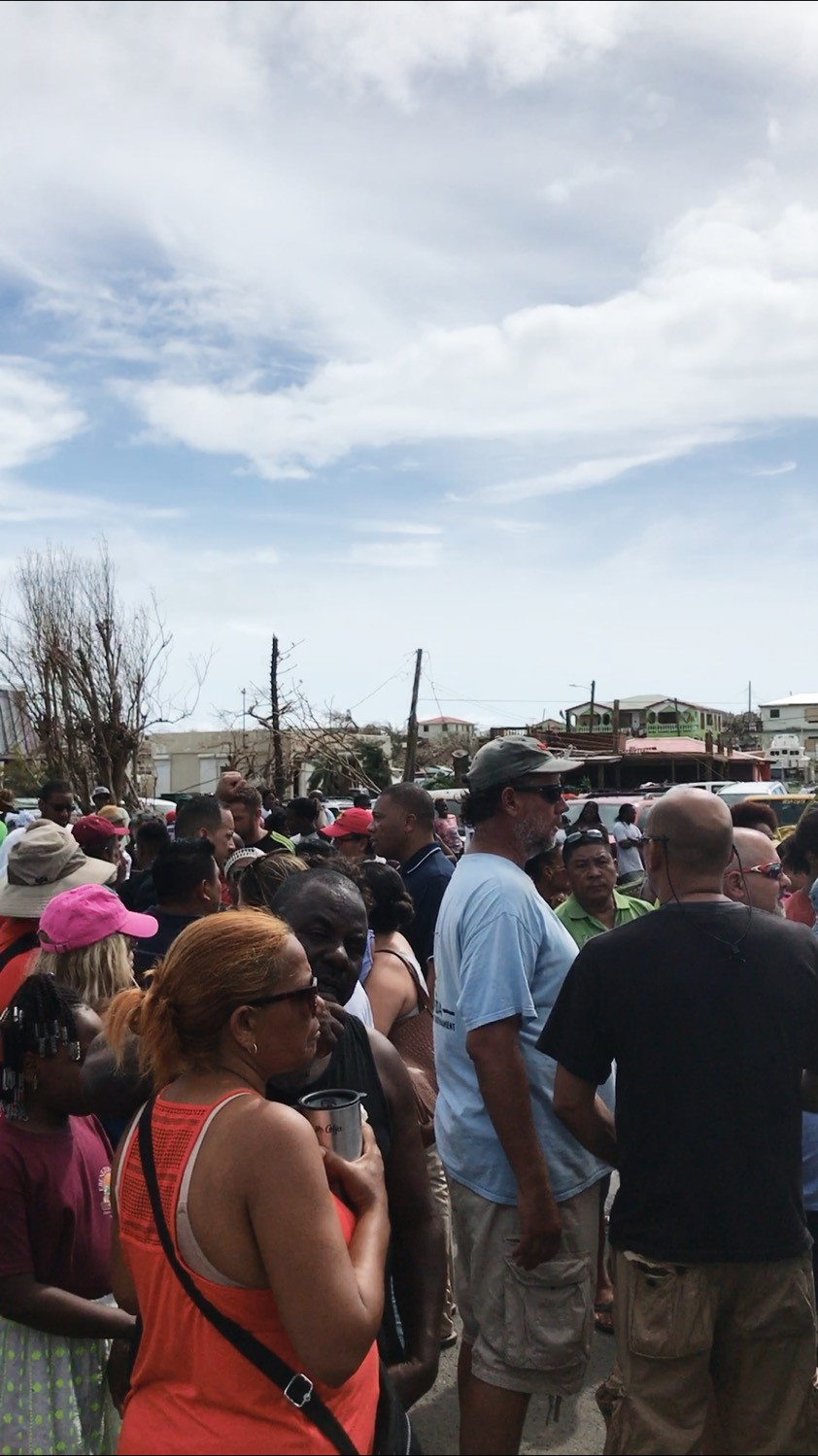 Community meetings on Virgin Gorda after hurricane Irma hits the BVI