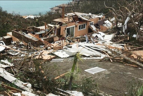 Houses destroyed across the BVI following hurricane Irma