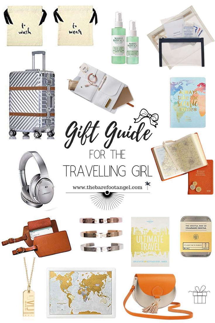 The Gift Guide for the Travelling Girl - Show her that you care with thoughtful gift suggestions at a variety of price points, that are sure to make her smile!