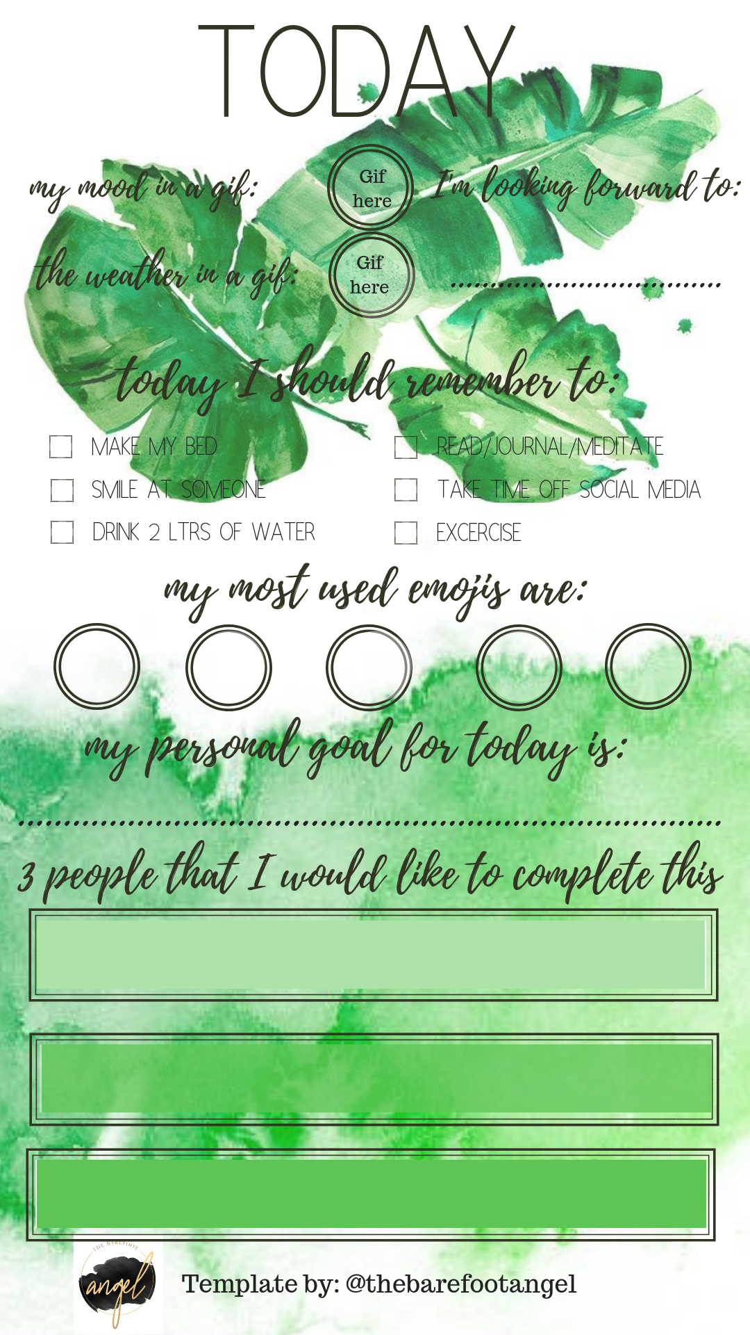 Insta-Story Templates from The Barefoot Angel