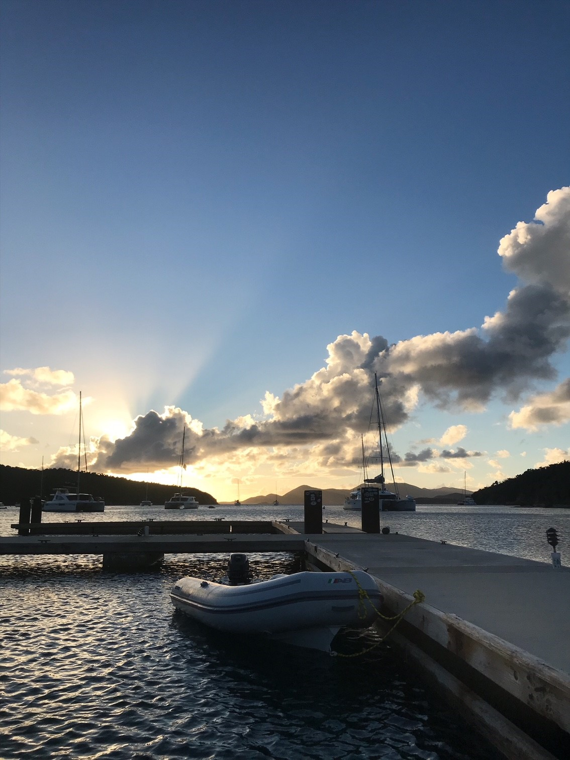 Sunsets at Norman Island. Weekends on the water with Virgin Motor Yacht Charters - exploring the British Virgin Islands.