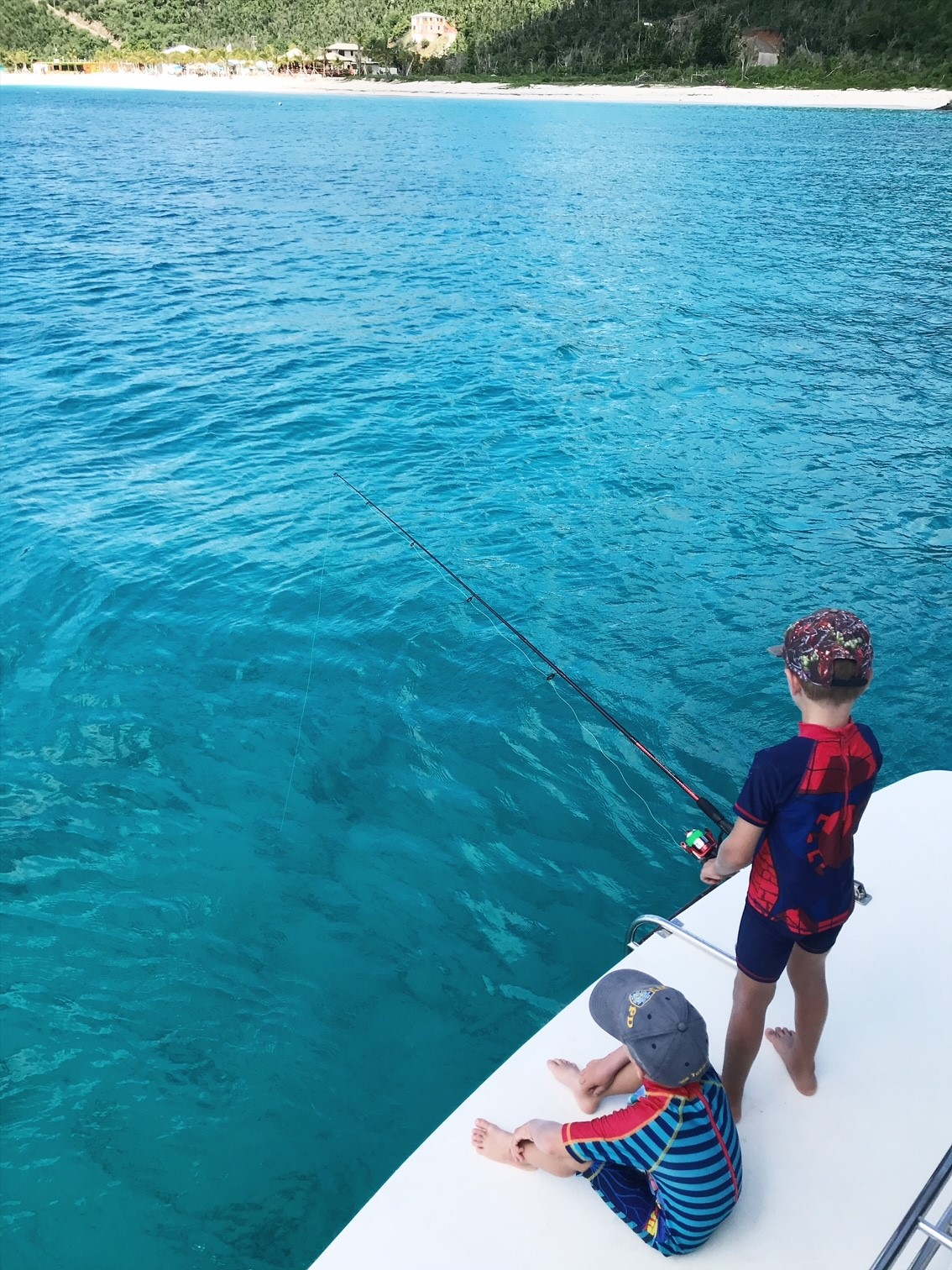 Family charter weekend with Virgin Motor Yacht Charters in the beautiful British Virgin Islands
