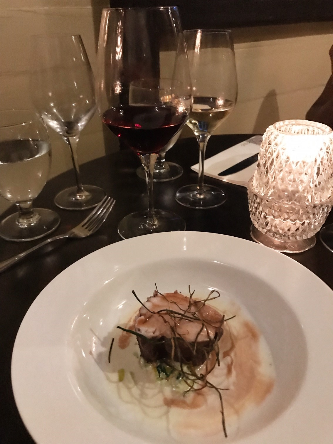 Elena Walch Wine Tasting at the Dove Restaurant - Fourth Course - Red Wine poached Monk Fish