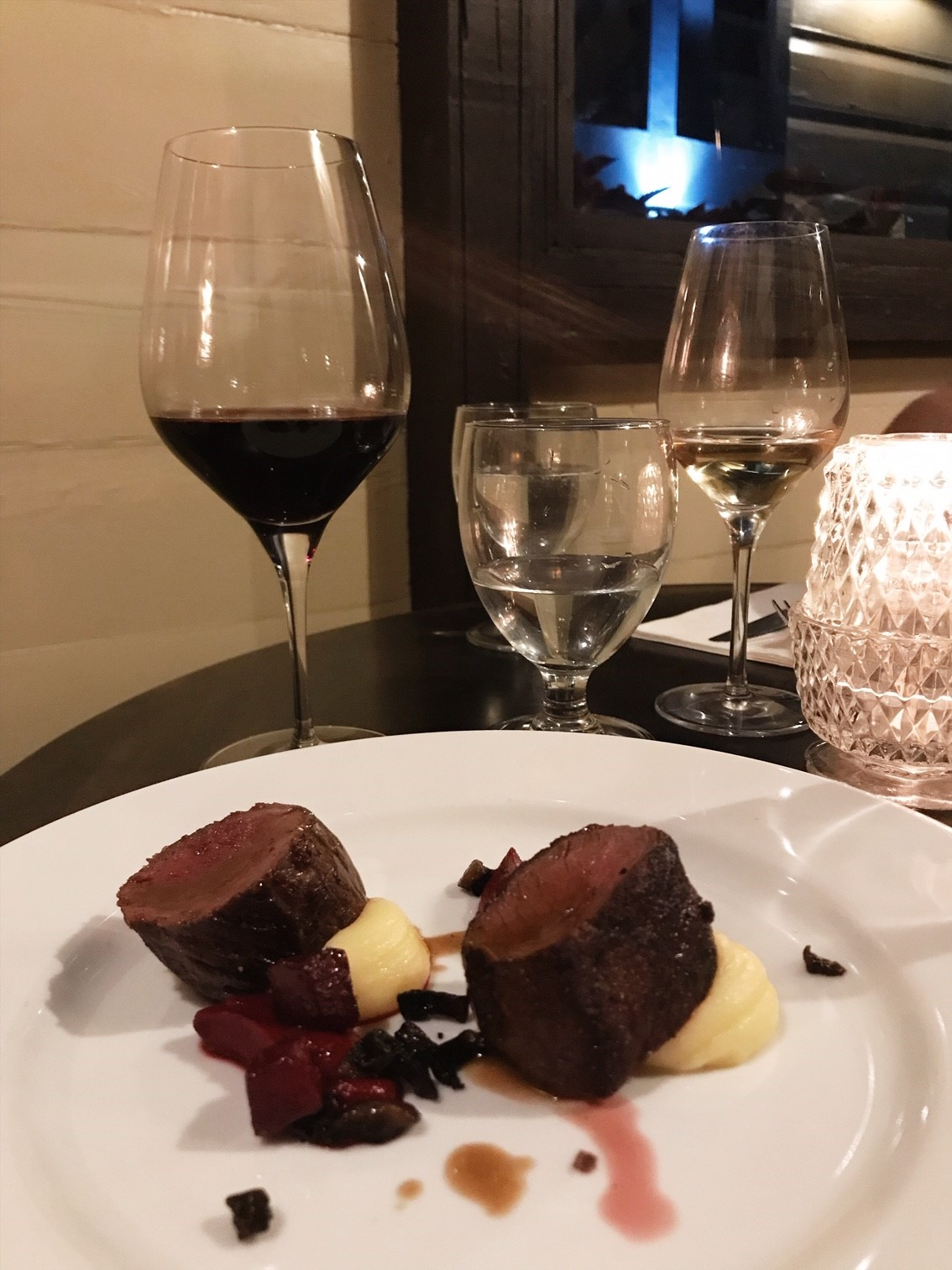 Elena Walch Wine Tasting at the Dove Restaurant - Fifth Course - Roast loin of Venison