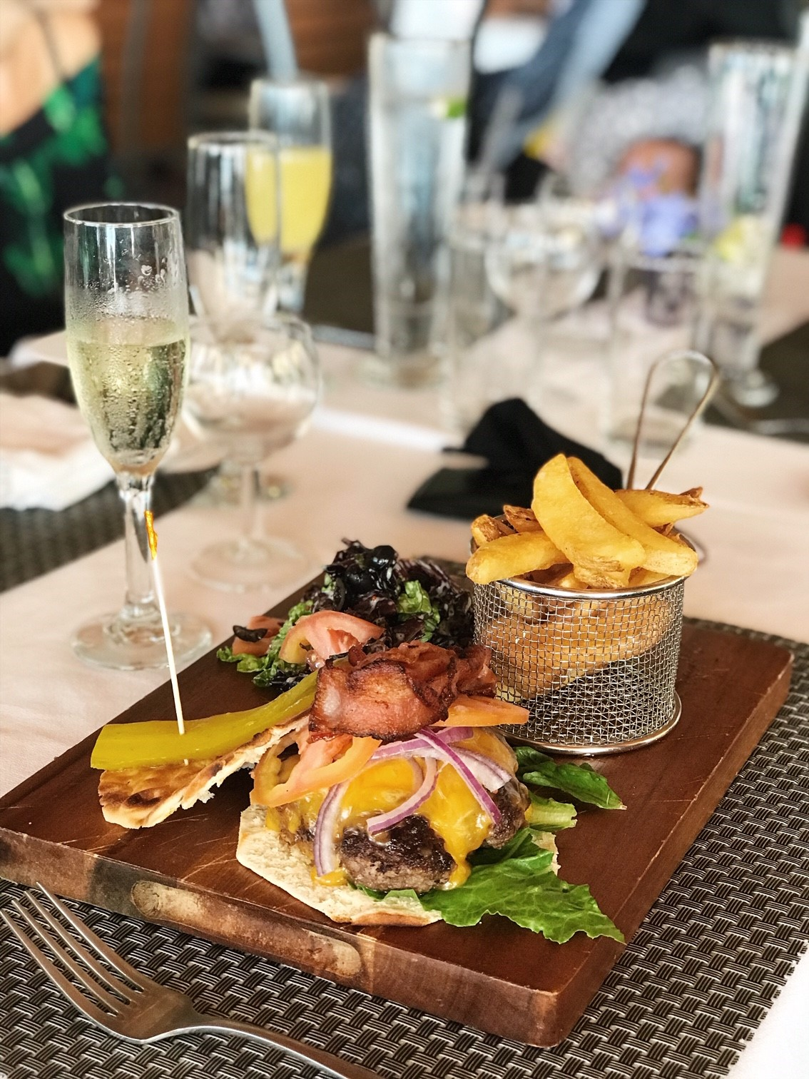 Brunch at the Sugar Mill BVI - Juicy Breakfast Burger