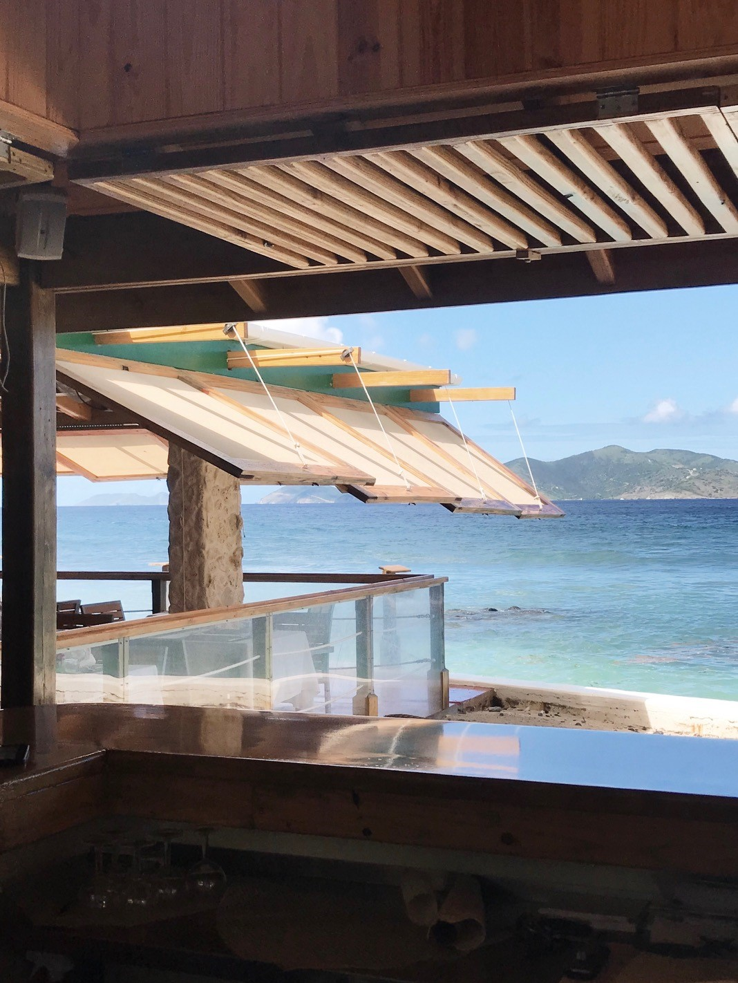 Brunch at Sugar Mill BVI - Views from the bar across the beach