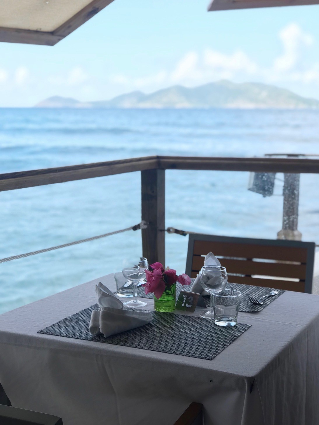 Sunday Brunch at Sugar Mill BVI - Tables right on the waterfront