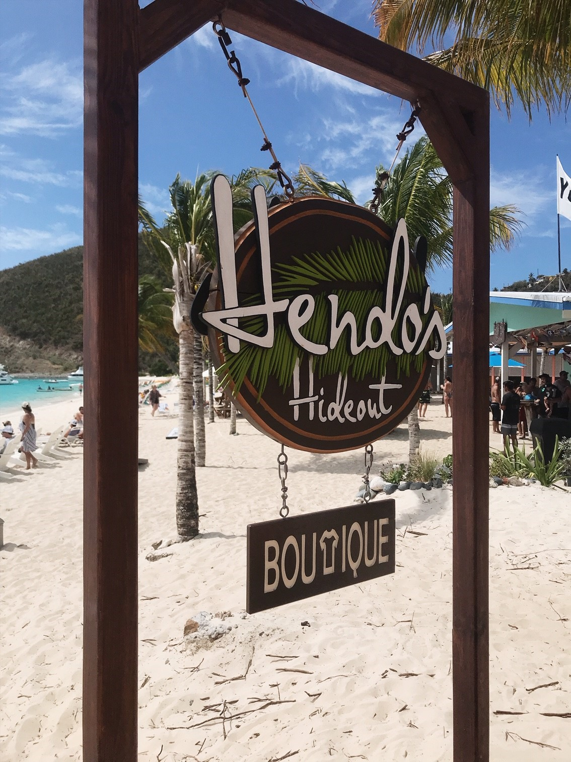 Hanging out at Hendo's Hideout - Jost Van Dyke, British Virgin Islands