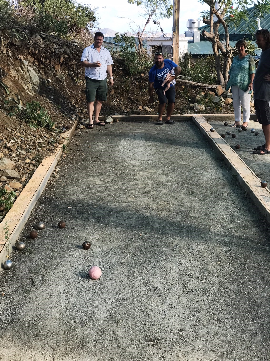 Sunday Brunch at Brandywine Restaurant - Playing Petanque after lunch