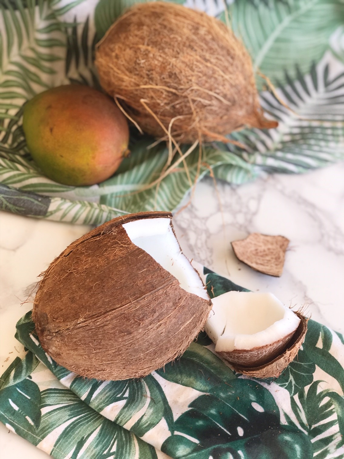 Double Chocolate Coconut Bowl Recipe - How to get into a Coconut - Opening your coconut