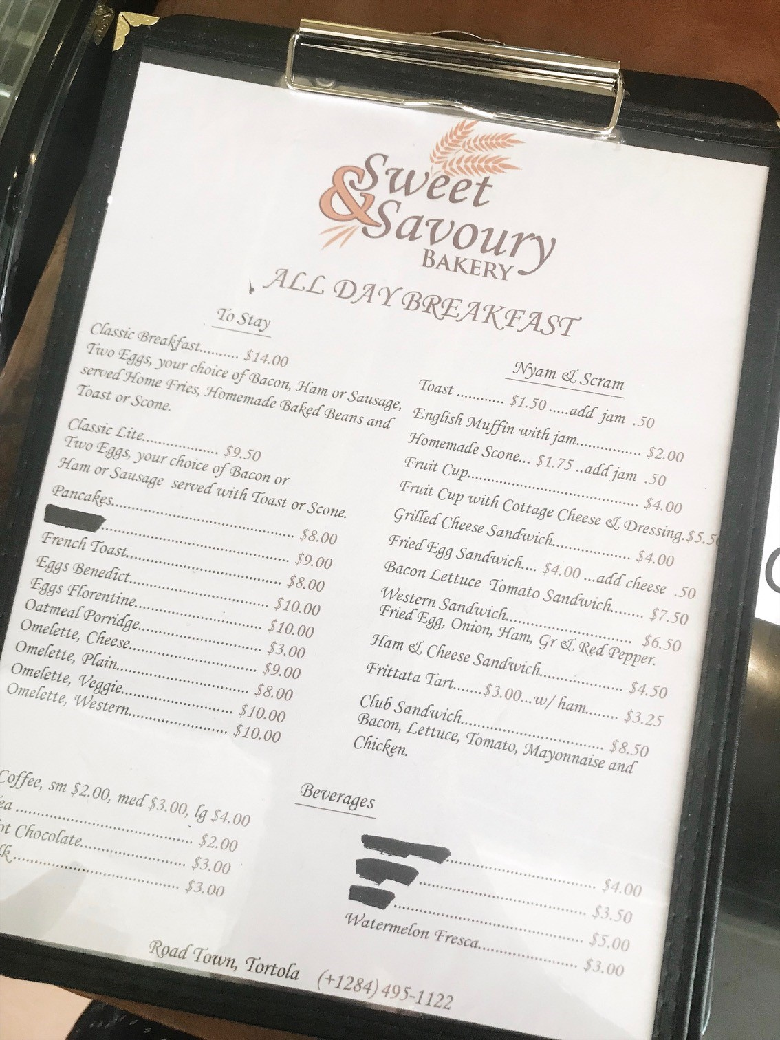 Where to go in Road Town - Sweet n Savoury Bakery