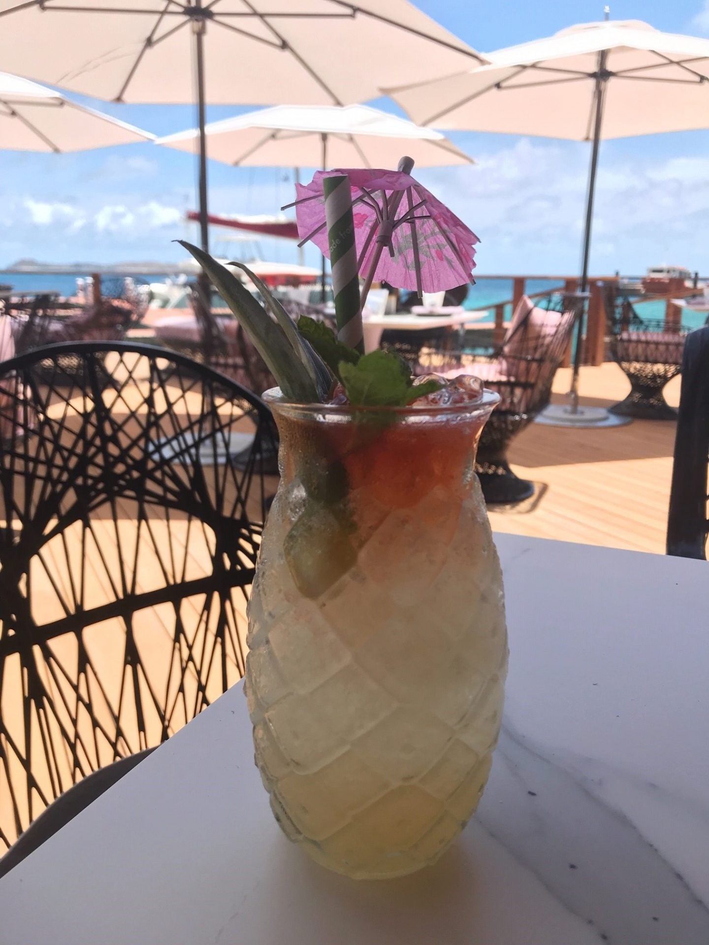 Cocktails at Nova, Oil Nut Bay in the British Virgin Islands