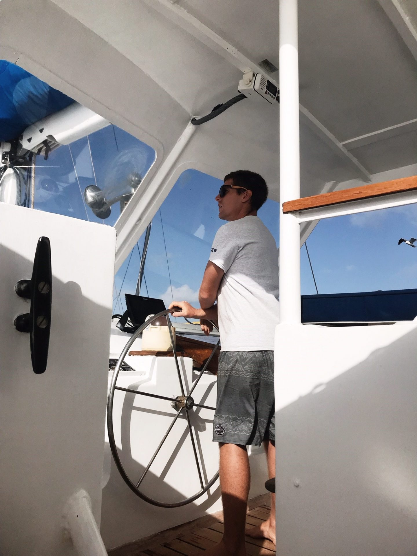 BVI Sailing - Captain Chris on Cuan Law