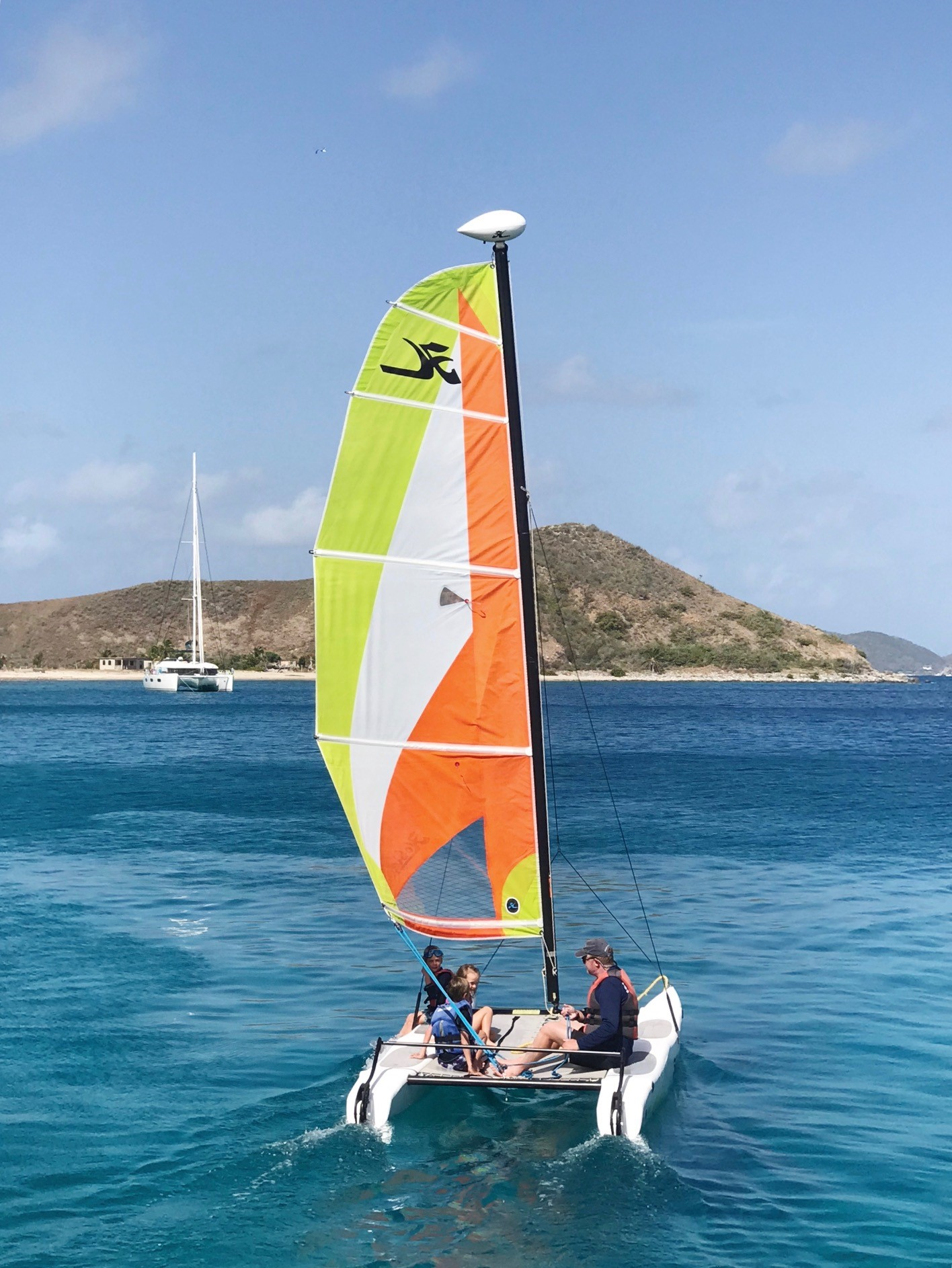 BVI Sailing - Taking the Hobie Cat out to explore