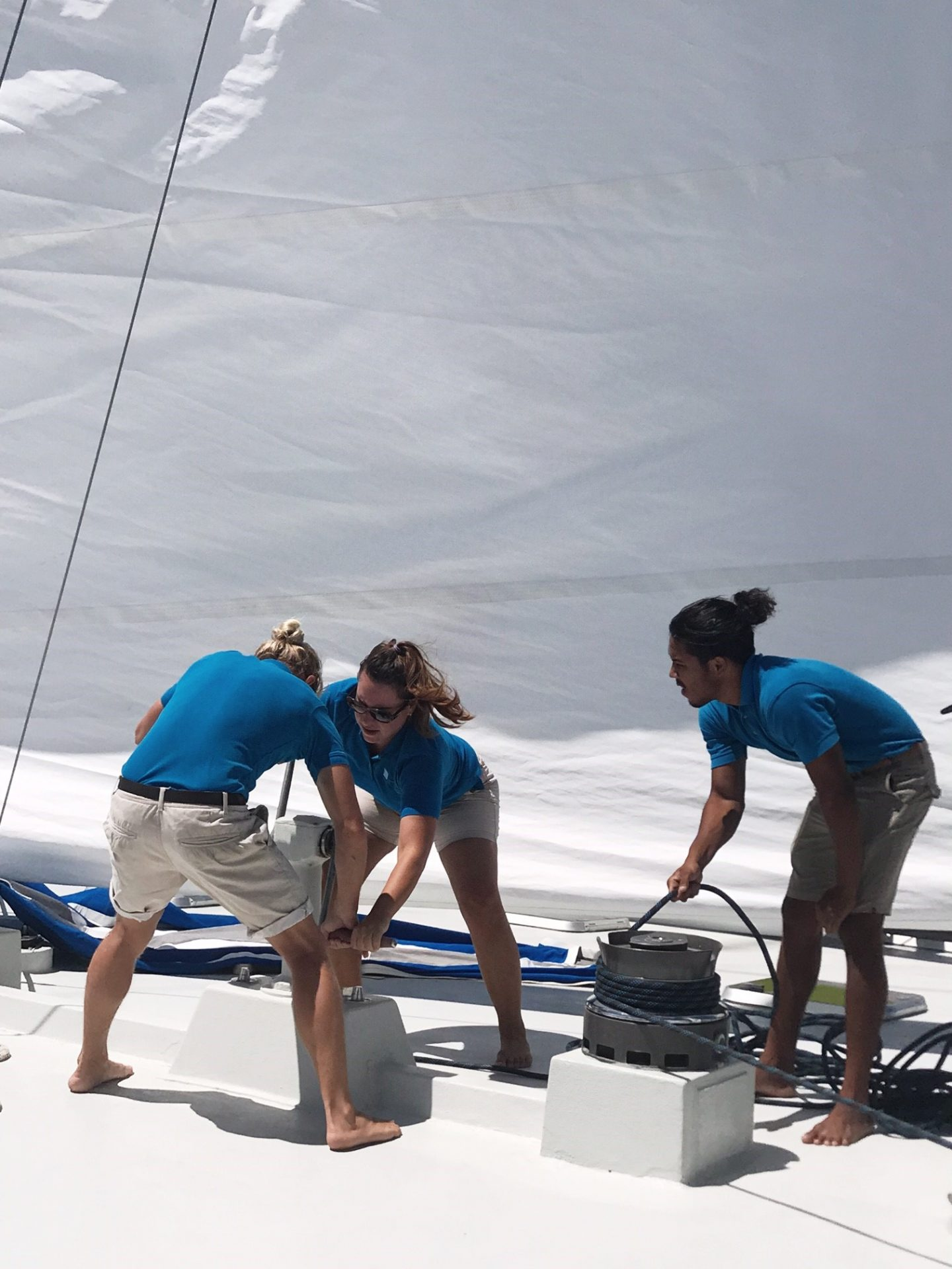 BVI Sailing - the crew getting ready to set sail