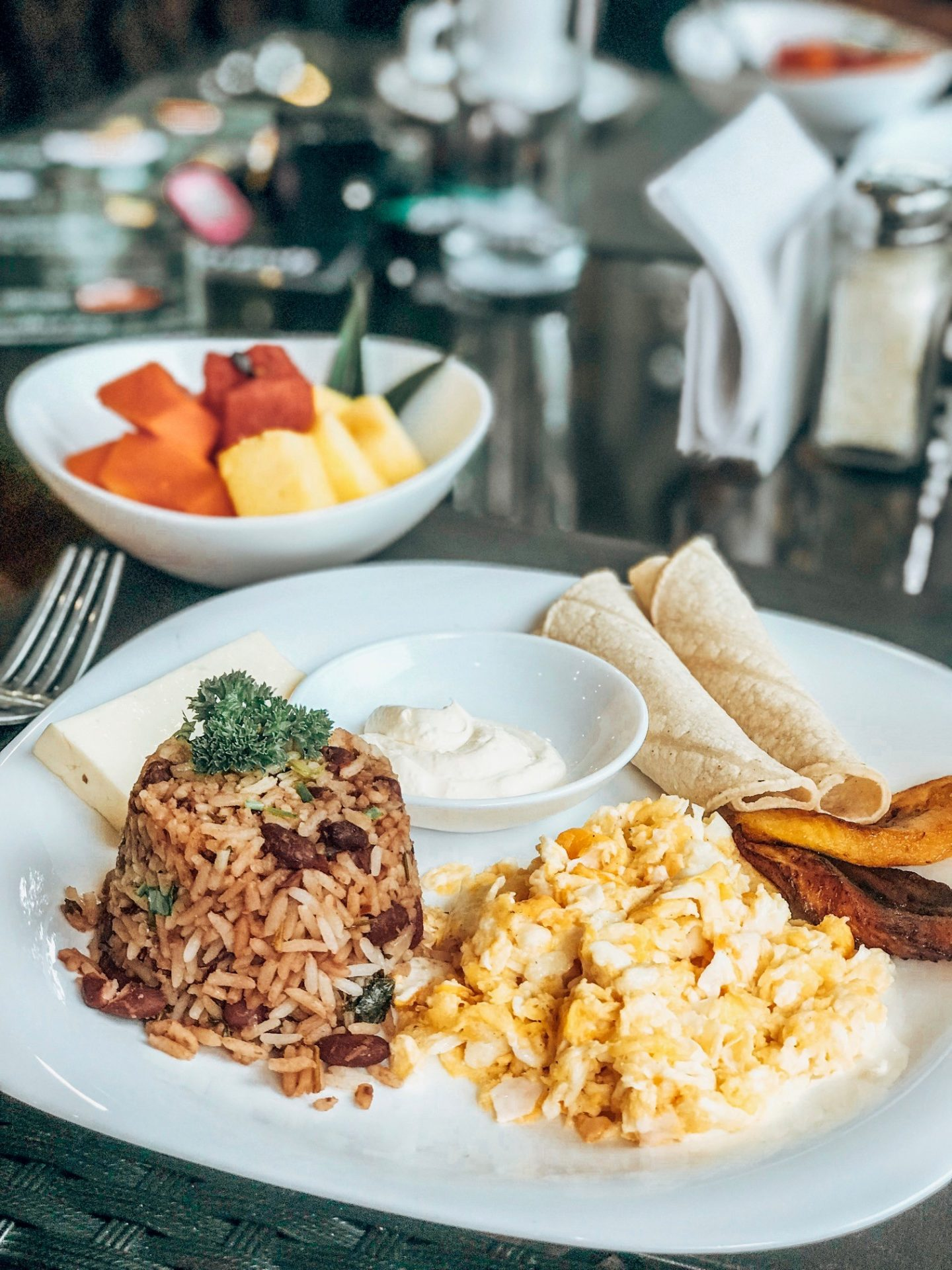 Traditional Costa Rican Breakfast at Ti-fakara Boutique Hotel