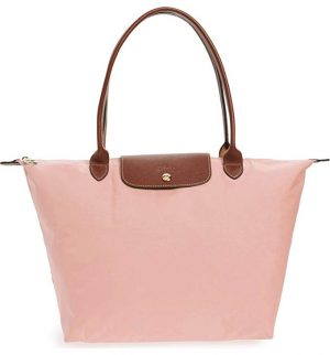 Blush Longchamp Large Le Pliage Tote