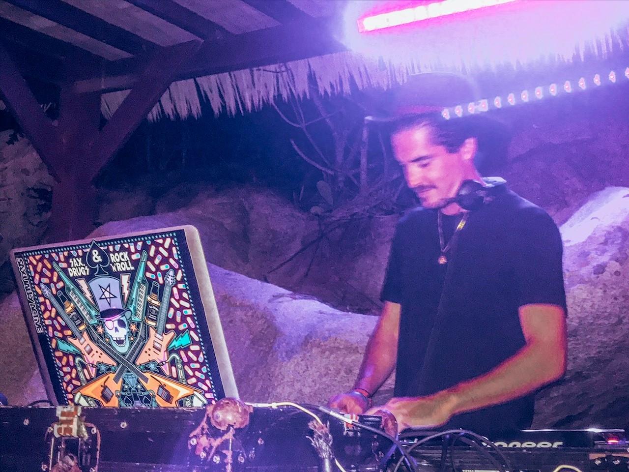 CocoMaya - Virgin Gorda, British Virgin Islands. Resident DJ James Park