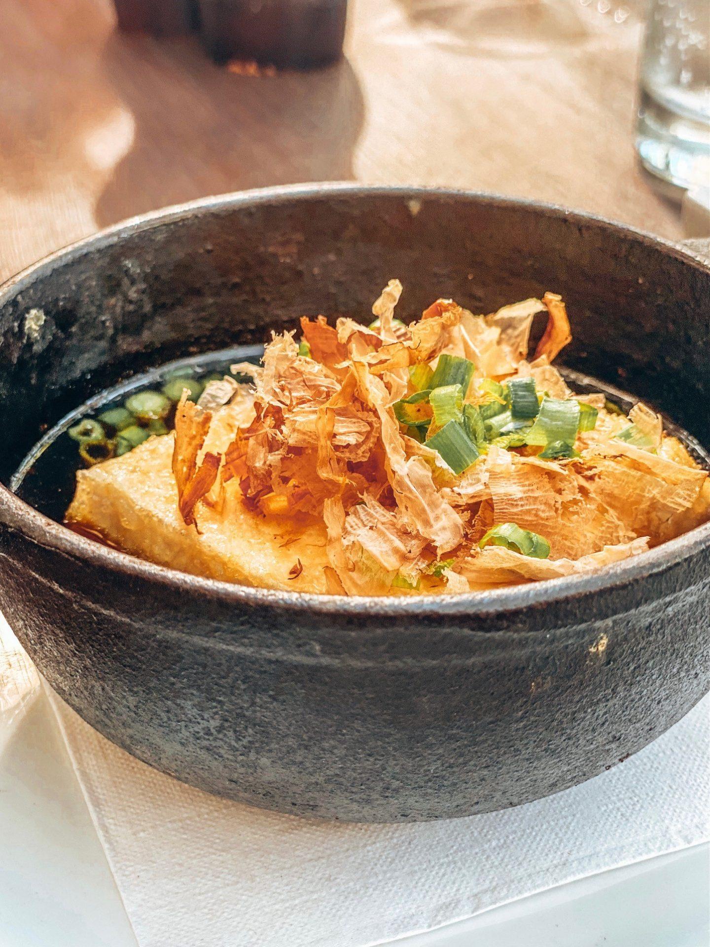 CocoMaya - Agedashi Tofu, Lightly fried crispy Tofu in Dashi Broth
